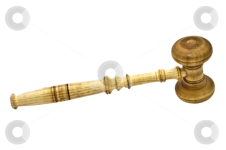 Wood gavel stock photo, A gavel isolated on white background   by Ingvar Bjork