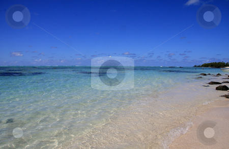 Mauritius  stock photo, Beautiful  beach,ocean and sky on  Mauritius   by Ingvar Bjork