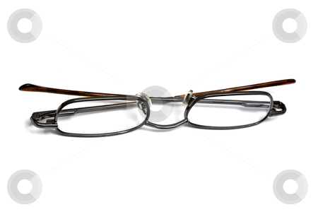 Reading glasses isolated on white stock photo, Reading glasses isolated on white background by Ingvar Bjork