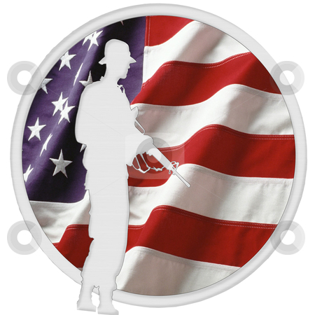 American Soldier Logo stock photo, American Soldier Logo by CHERYL LAFOND