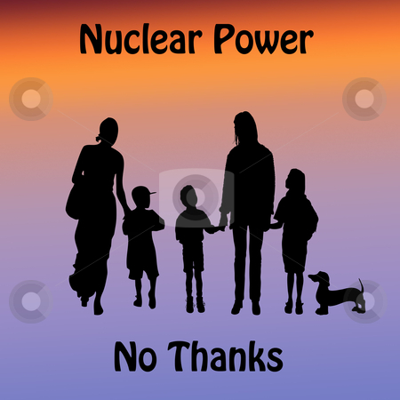 Nuclear Power stock photo, family values  by CHERYL LAFOND