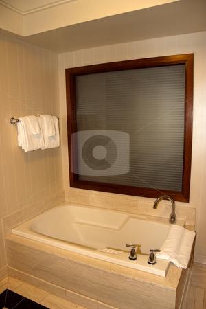 Bathtub stock photo, A empty bathtub with window beyond by Kevin Tietz