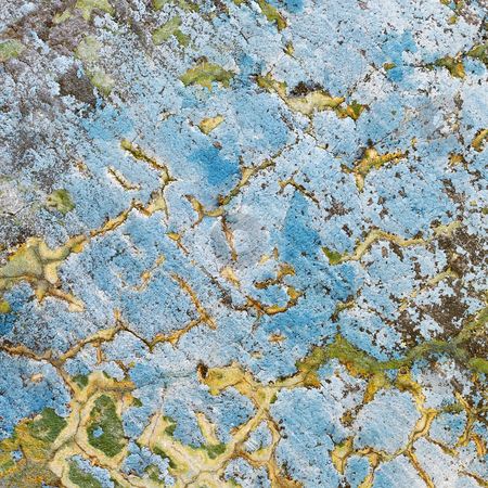 Weather-beaten wall with cracks stock photo, Dirty square texture - weather-beaten wall with cracks by Alexey Romanov