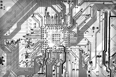 Tech industrial electronic background stock photo, Tech industrial electronic graphic bw background by Alexey Romanov