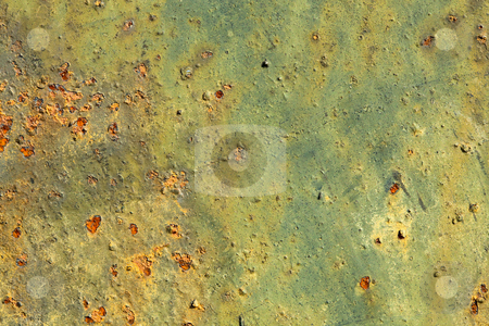 Peel grungy wall stock photo, Metal old peel grungy rusty surface of wall by Alexey Romanov
