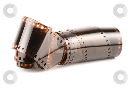35 mm film stock photo, 35 mm  film isolated in white background