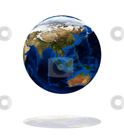 Europe and Asia on the Earth planet stock photo, Europe and Asia on the Earth planet. Data source: Nasa by olinchuk