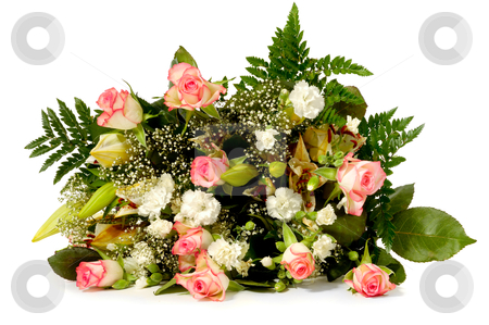Bouquet stock photo, Bouquet of mixed flowers by Lars Christensen