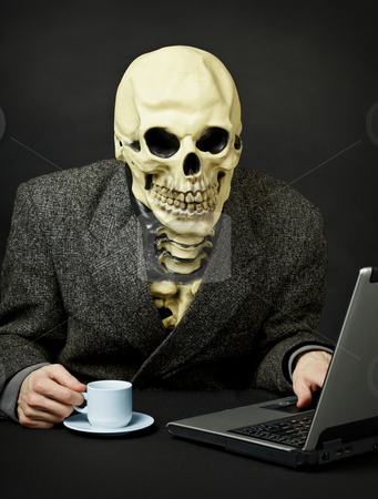 Death walks in Internet stock photo, Death walks the expanses of the Internet network by Alexey Romanov