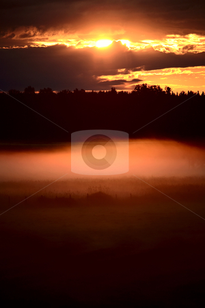 Colorful skies nearing sunset stock photo, Colorful skies nearing sunset by Mark Duffy