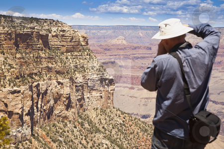 Photographer Shooting at the Grand Canyon stock photo, Photographer Shooting the Beautiful Landscape of the Grand Canyon. by Andy Dean