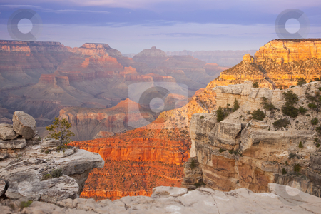 Beautiful Grand Canyon Landscape View stock photo, Beautiful Landscape of the Grand Canyon, Arizona at Sunset. by Andy Dean