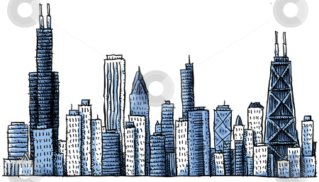 Cartoon City Skyline Cartoon Chicago Skyline