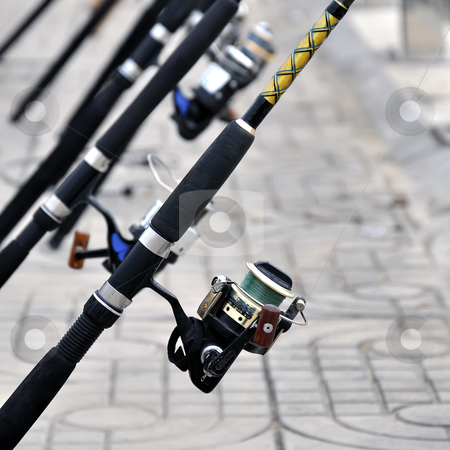 Reel for fishing stock photo, Reel for fishing by phanlop88