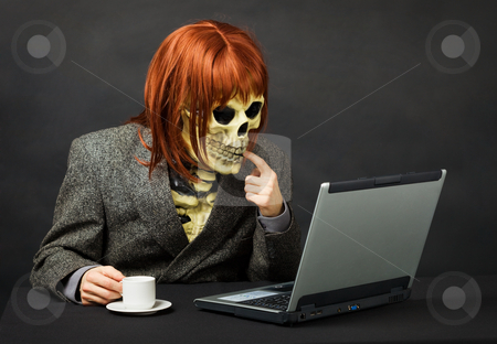 Terrible monster has got access to network Internet stock photo, The terrible monster has got access to a network the Internet by Alexey Romanov