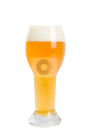 Beer stock photo, Beer isolated on a white background by olinchuk
