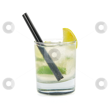 Mojito alcohol cocktail   stock photo, mojito alcohol fresh cocktail  closeup on a white  by olinchuk