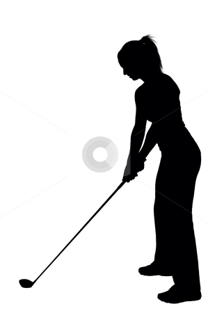 Woman Golfer stock photo, A very beautiful and young woman golfer by Robert Byron