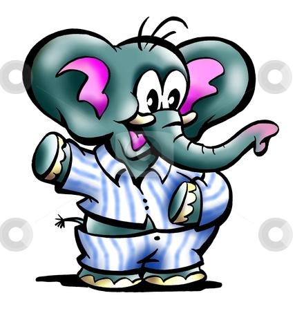 Baby elephant in pajamas stock photo - Pyjama elephant ...
