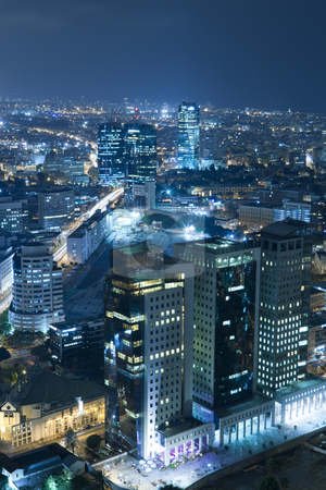 Cityscape stock photo, Night city, Tel Aviv at night, Israel by Dmitry Pistrov
