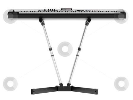 Synthesizer stock photo, Synthesizer isolated on white background by Nmorozova