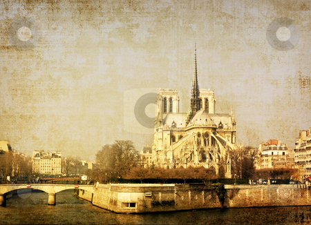 Antique church stock photo, antique church building in Europe - with space for text   by ilolab