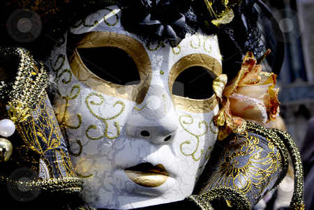 Carnival masks stock photo, ornate carnival masks typical of Venice by freeteo