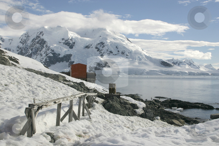 Landscape in Antarctica stock photo, Scenery in Antarctica, the frozen continent by Tomislav Konestabo