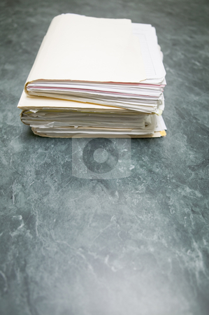 Files, concept photography stock photo, Files stacked on conference table, concept photography by Bryan Mullennix