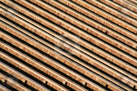Abstract Wooden Roof Frame stock photo, An abstract wooden roof frame background.  by Chris Hill