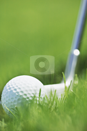 Golfing, concept photography stock photo, Golf ball and club, concept photography by Bryan Mullennix