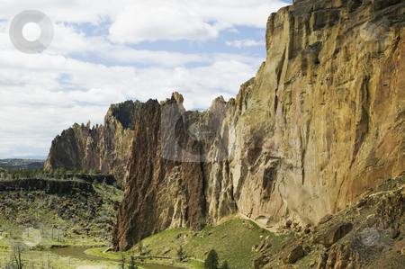 Smith Rock State Park in Oregon, USA stock photo, Smith Rocks, State Park by Bryan Mullennix