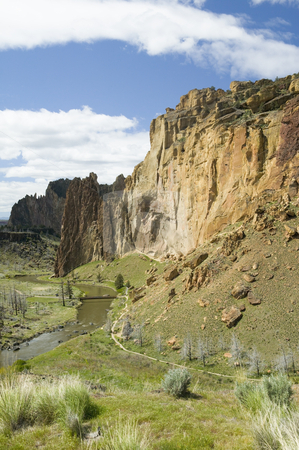 Smith Rock State Park in Oregon, USA stock photo, Smith Rocks State Park by Bryan Mullennix
