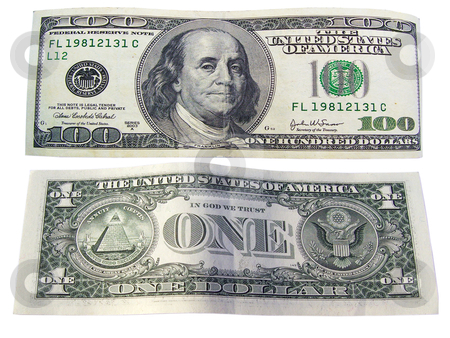 Front and back of One Hundred Dollar Bills stock photo, One Hundred Dollar Bills by ajithclicks