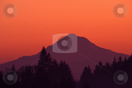 Mount Hood at Sunrise stock photo, Mount Hood, Oregon at sunrise, nature stock photography by Bryan Mullennix