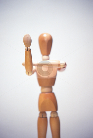 Angry Wooden Mannequin stock photo, Artists mannequin making an angry gesture, concept photography by Bryan Mullennix