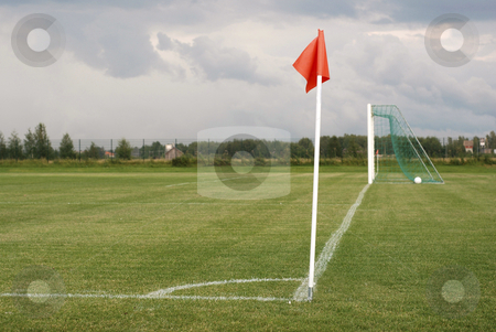 Soccer field stock photo, soccer field by makrofoto