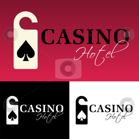 Hotel casino logo stock photo, Hotel casino logo on black background. Vector available by Cienpies Design
