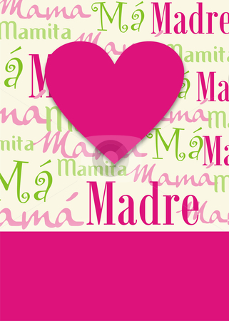 Happy mothers day gretting background stock photo, computer generated illustration background of a gretting card for the mothers day. Vector format available by Cienpies Design
