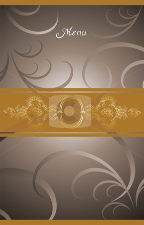 Victorian menu cover design stock photo, illustration background for food industry, menu, chocolate box, cover, label for wine. by Cienpies Design