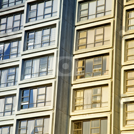 City Apartment Flats stock photo, City Apartment flats, close up view by Vividrange