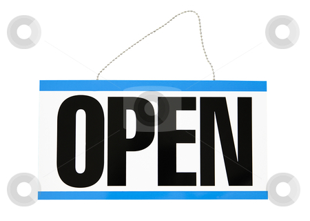 Open Sign - Photo Object stock photo, Open sign, includes clipping path  by Bryan Mullennix
