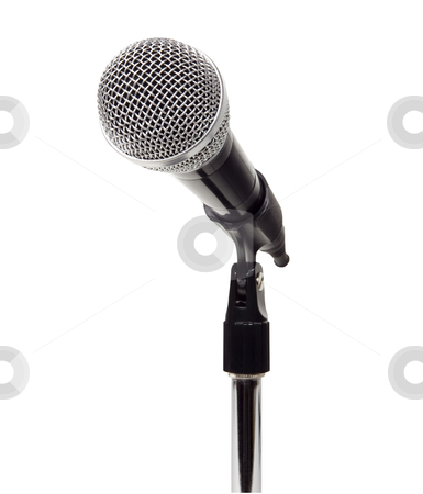 Microphone - Photo Object stock photo, Microphone on stand, includes clipping path by Bryan Mullennix