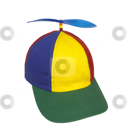 Hat with Propeller - Photo Object stock photo, Beanie cap with propeller, includes clipping path by Bryan Mullennix