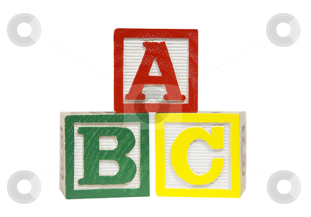 Alphabet Blocks - Photo Object stock photo, Alphabet Blocks, includes clipping path by Bryan Mullennix
