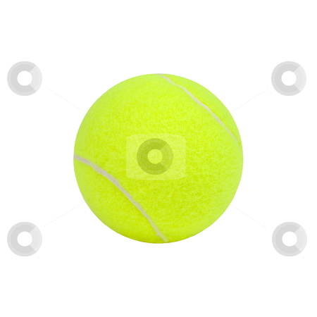 Tennis Ball - Photo Object stock photo, Tennis ball, includes clipping path by Bryan Mullennix