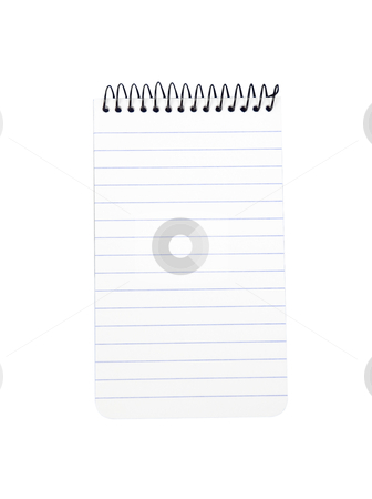 Note pad - Photo Object stock photo, Spiral note pad, includes clipping path by Bryan Mullennix