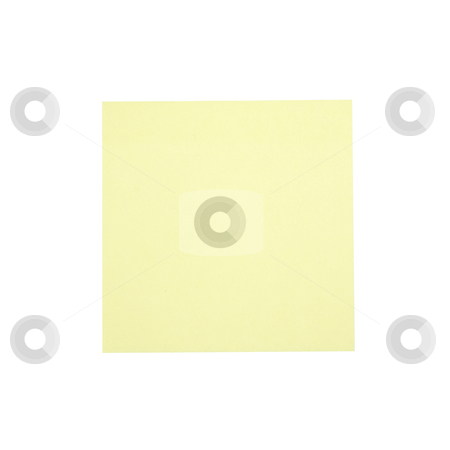 Sticky Note - Photo Object stock photo, Yellow sticky note, includes clipping path by Bryan Mullennix