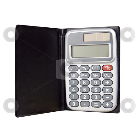 Calculator - Photo Object stock photo, Pocket calculator, with clipping path by Bryan Mullennix