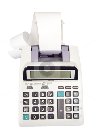 Adding Machine - Photo Object  stock photo, Adding Machine, includes clipping path by Bryan Mullennix